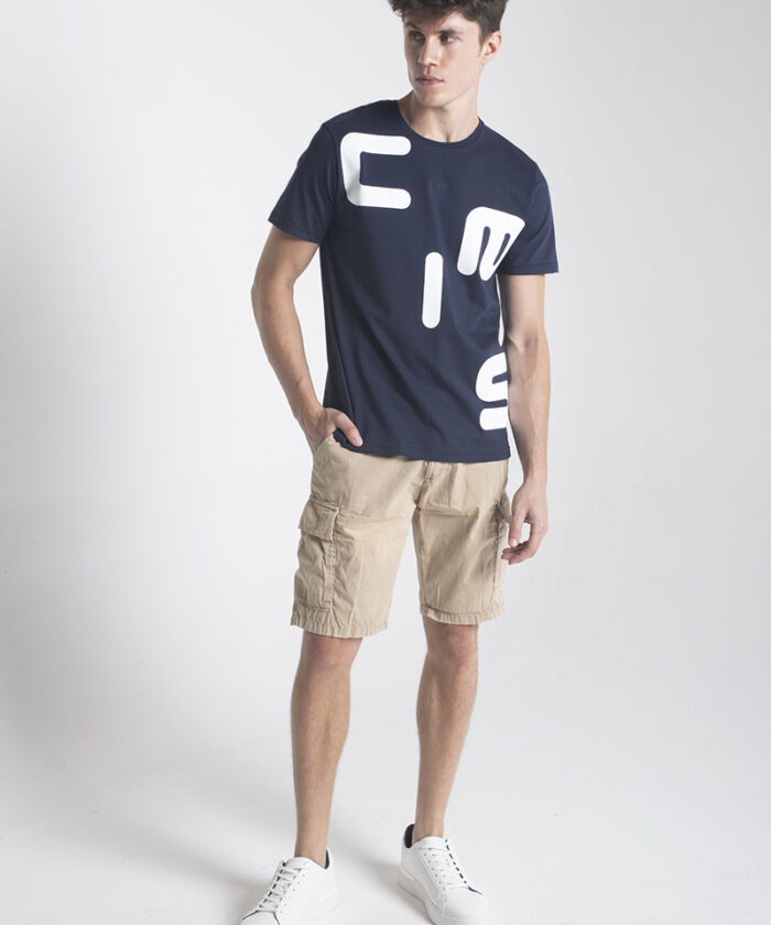 Ciesse-Piumini-t-shirt-con-stampa-lettering-in-fixed-cotton